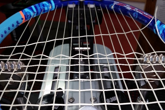 racket being strung