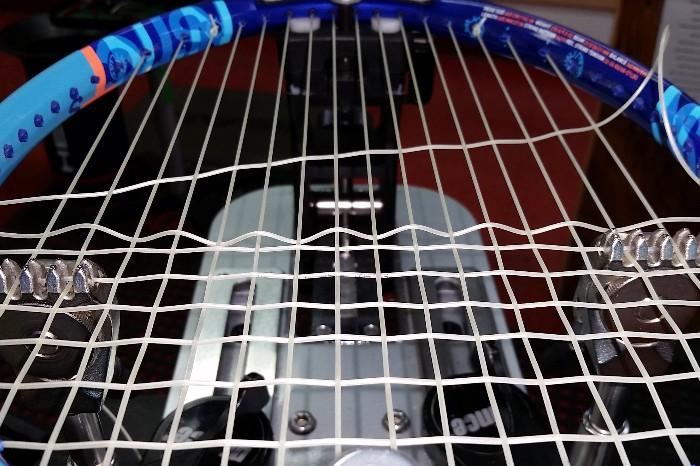 racket being strung