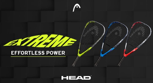 Now available, the new Head Extreme racquetball racket