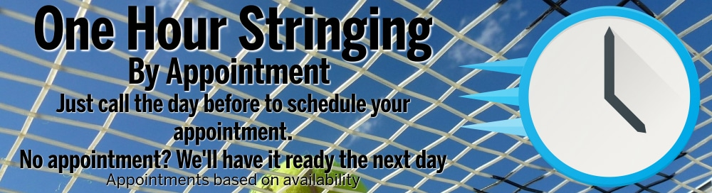 MP Tennis 1-hour stringing
